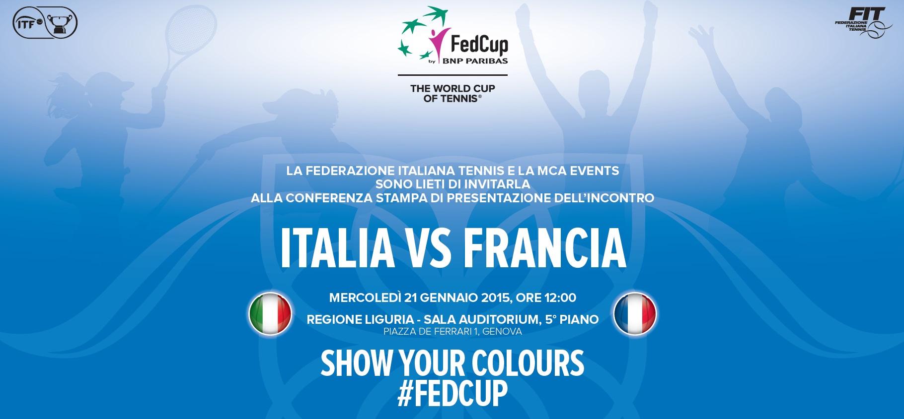 Italia VS Francia_tennis_FedCup_21012015