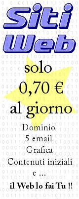 Siti Web a partire da 0,70 € al giorno